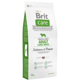 BRIT CARE Grain Free Adult Large Breed Somon si Cartofi 12kg