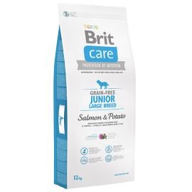 BRIT CARE Grain Free Junior Large Breed Somon si Cartofi 12kg