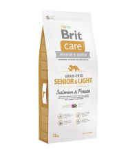 BRIT CARE Grain Free Senior si Light Somon si Cartofi 12kg