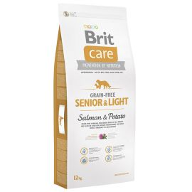 Hrana Uscata Caini BRIT CARE Grain Free Senior si Light Somon si Cartofi 12kg