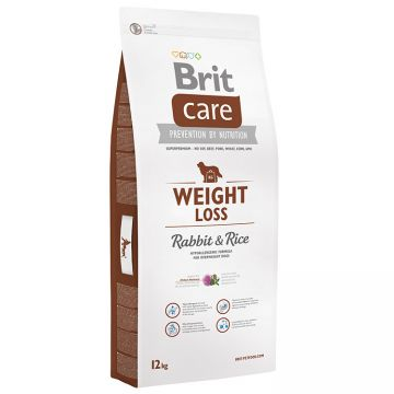 Hrana Uscata Caini BRIT CARE Weight Loss Rabbit and Rice 12kg