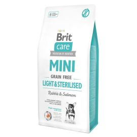 Hrana Uscata Caini BRIT CARE Grain Free Mini Light and Sterilised Rabbit and Salmon 7kg