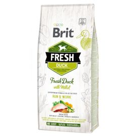 Hrana Uscata Caini BRIT FRESH Duck and Millet Active 12kg