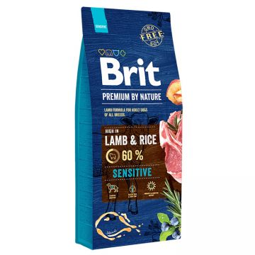 Hrana Uscata Caini BRIT PREMIUM by Nature Sensitive Miel si Orez 3kg