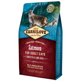 CARNILOVE Grain Free Pisica Sensitive-Long Hair cu Somon 6+2kg CADOU