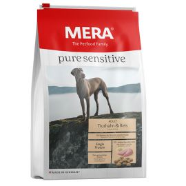 Hrana Caini MERA Pure Sensitive Adult Medium/Maxi Curcan si Orez 12,5kg + Container CADOU