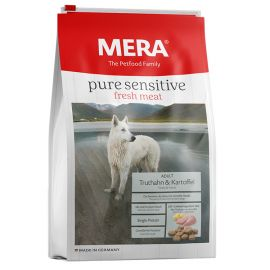 Hrana Caini MERA Pure Sensitive Fresh Meat Adult Medium/Maxi Curcan si Cartof 12,5kg + Container CADOU