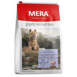 Hrana Caini MERA Pure Sensitive Adult Mini Miel si Orez 4kg