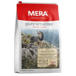Hrana Caini MERA Pure Sensitive Fresh Meat Adult Medium/Maxi Pui si Cartof 12,5kg + Container CADOU