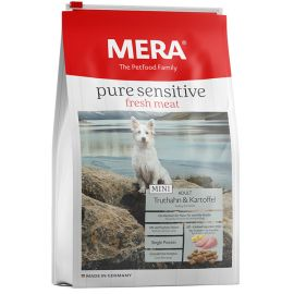 Hrana Uscata Caini MERA Pure Sensitive Fresh Meat Adult Mini Curcan si Cartof 4kg