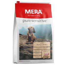 Hrana Caini MERA Pure Sensitive Junior Curcan si Orez 12,5kg
