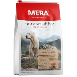 Hrana Caini MERA Pure Sensitive Fresh Meat Adult Medium/Maxi Vita si Cartof 12,5kg + Container CADOU