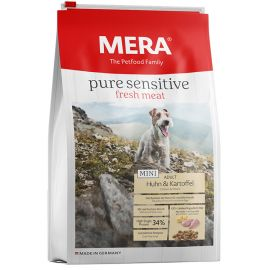 Hrana Caini MERA Pure Sensitive Fresh Meat Adult Mini Pui si Cartof 4kg