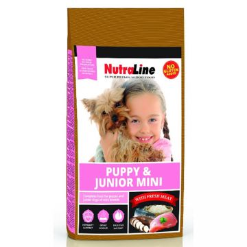 Hrana Caini NUTRALINE Puppy si Junior Mini 8kg