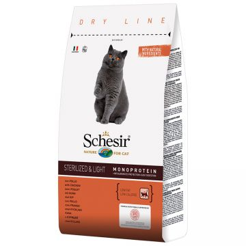 SCHESIR Cat Sterilized Monoprotein Pui 400g