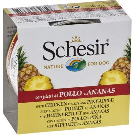 Pachet Conserve SCHESIR Dog Fruit Pui si Ananas 6x150g